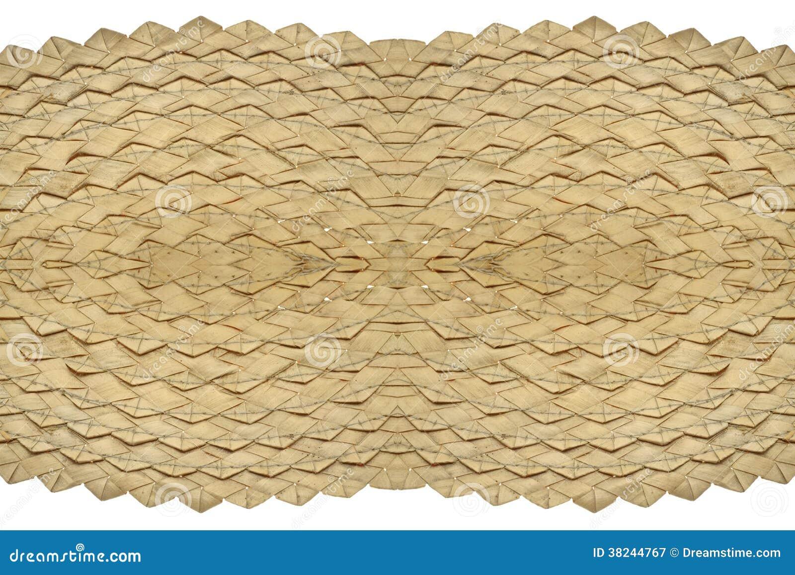 Texture en osier de paille.