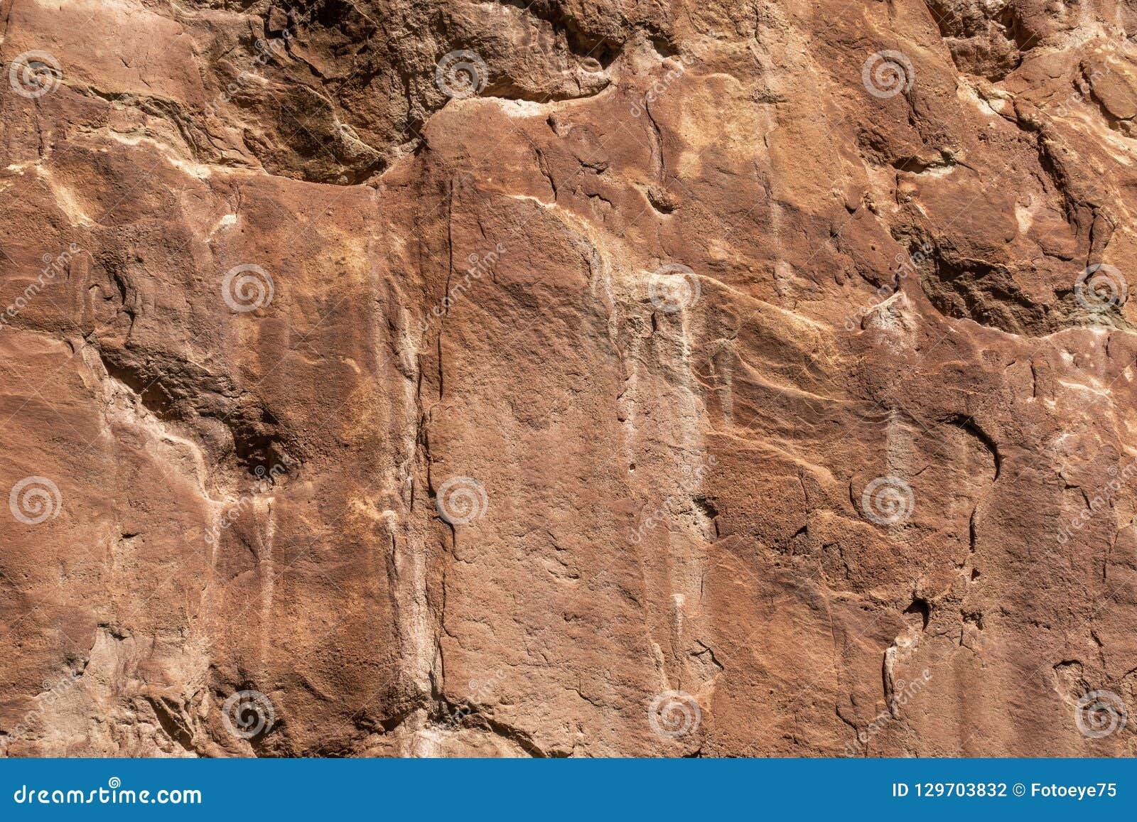 Texture en pierre rouge de fond de formation de roche