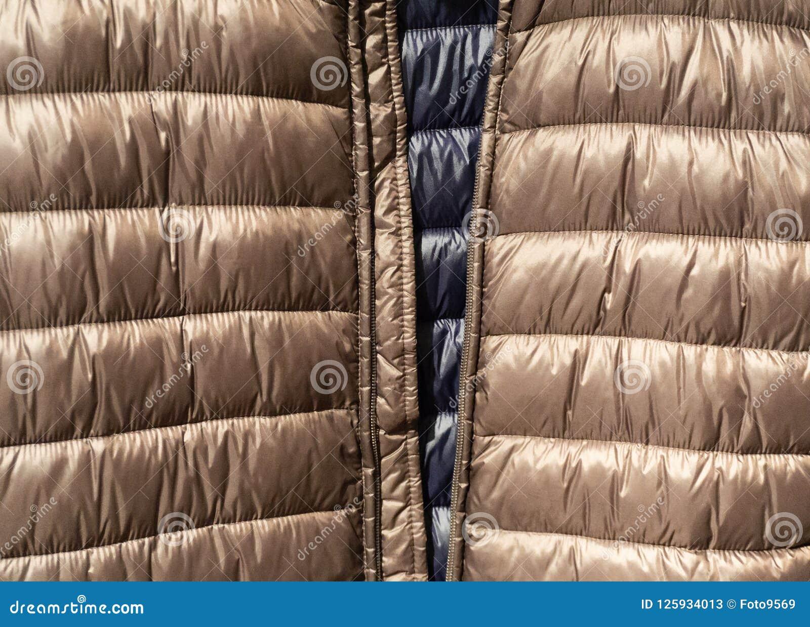 Texture et fond vers le bas de tissu de vestes