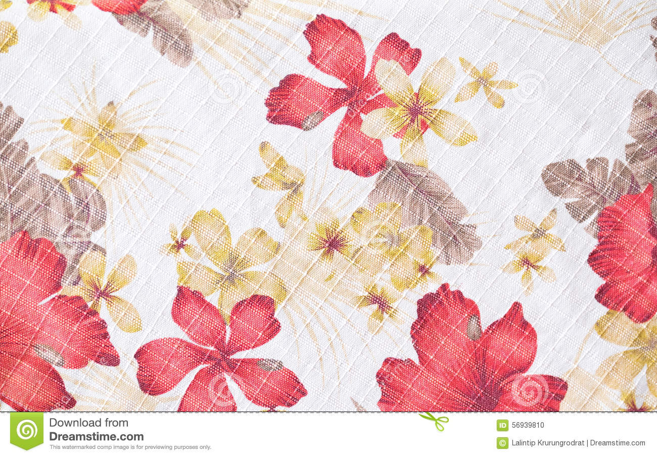 Fabric Flower Pattern Interesting Design