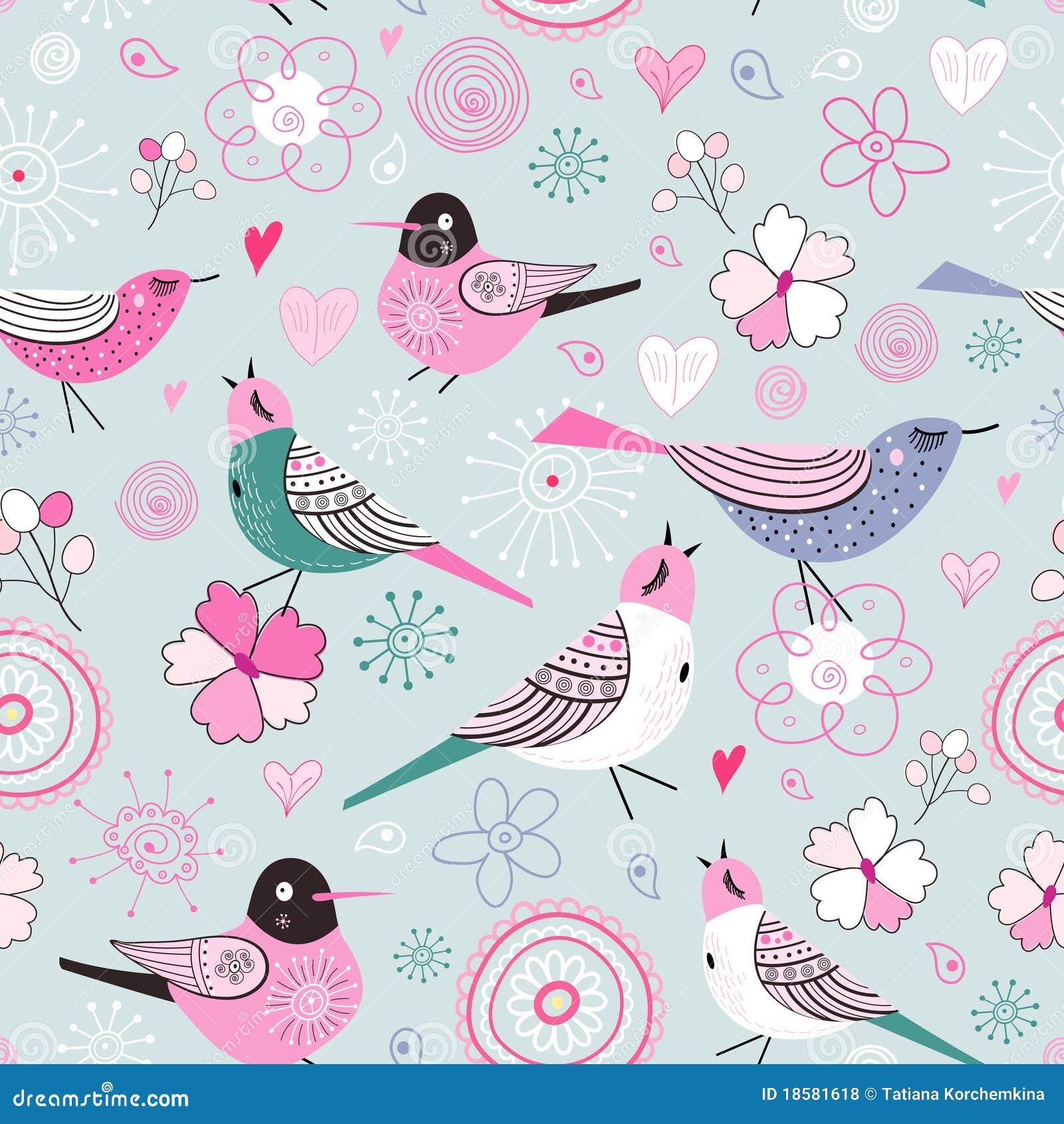 Texture fine birds