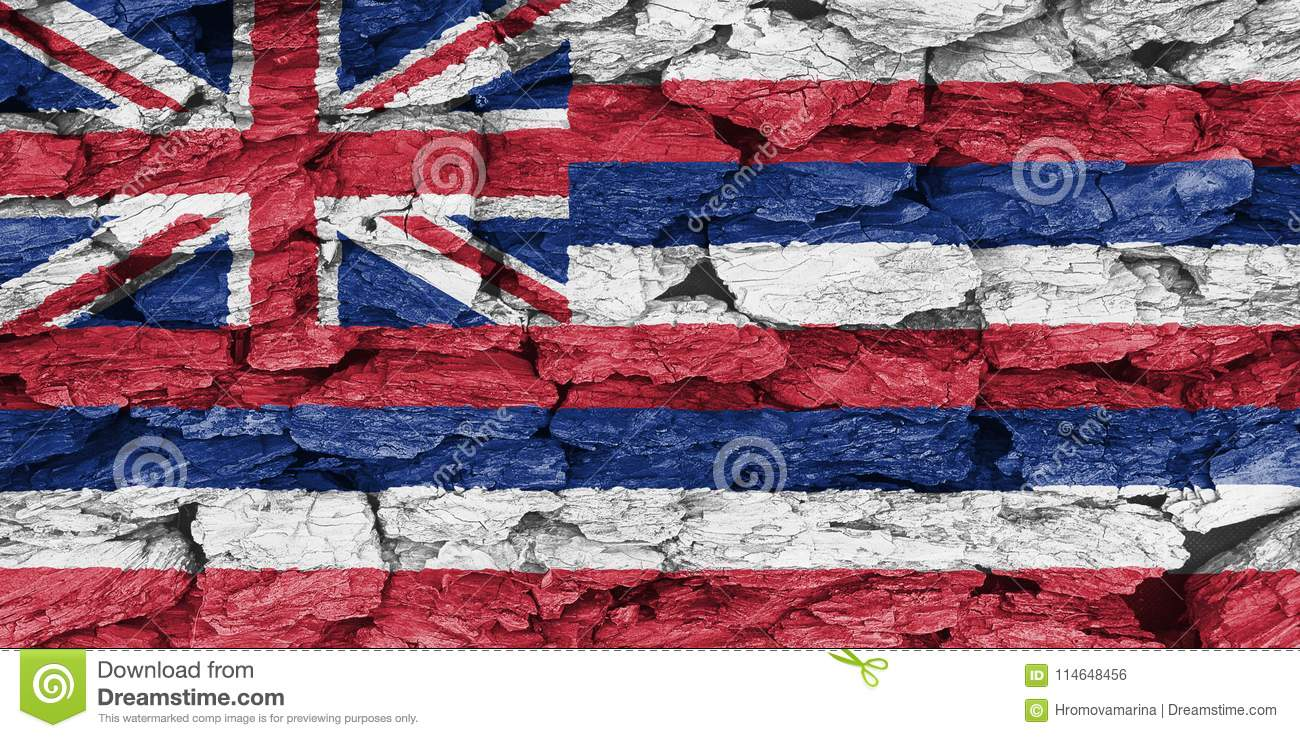 Texture of the Flag of Hawaii.