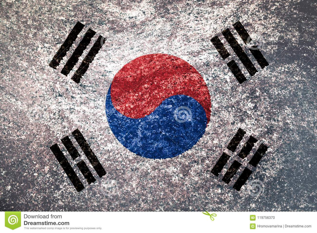Texture of the flag of South Korea