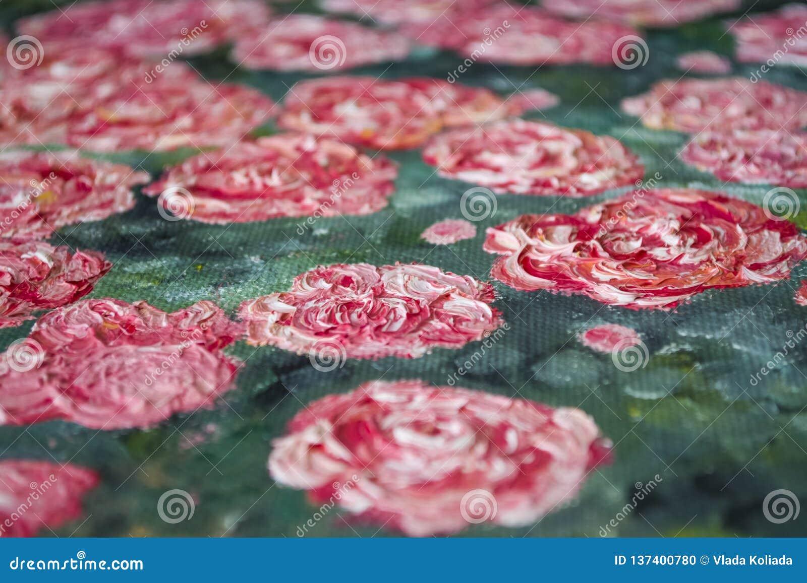 Texture Fond Une toile avec des limandes des peintures beurrées Couleurs rouges, blanches et vertes Art décor