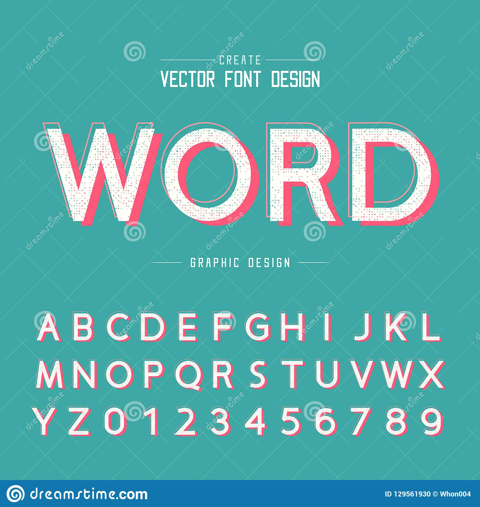 Texture Font And Grunge Alphabet Vector Word And Number