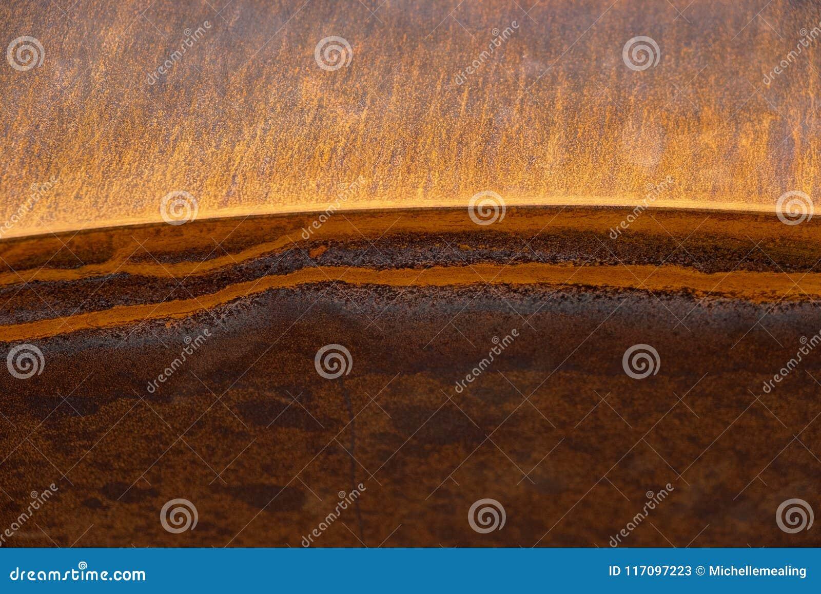 Texture fortement rouillée en métal