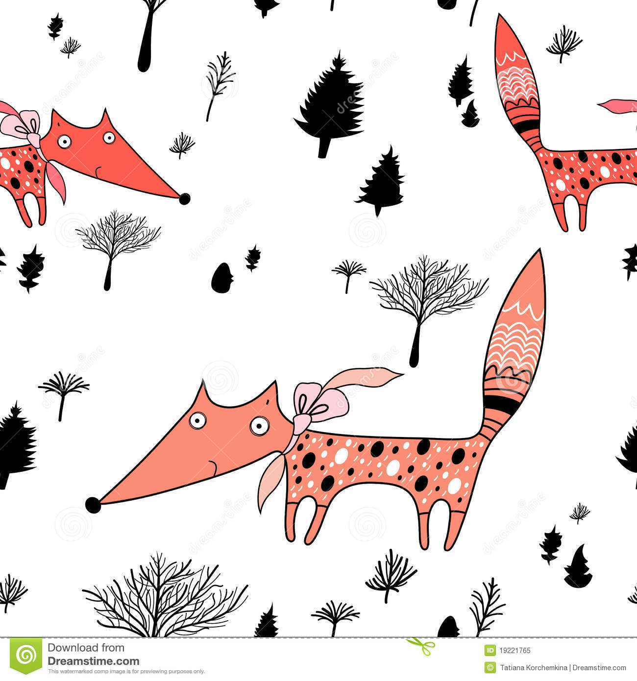 Texture of foxes in the forest