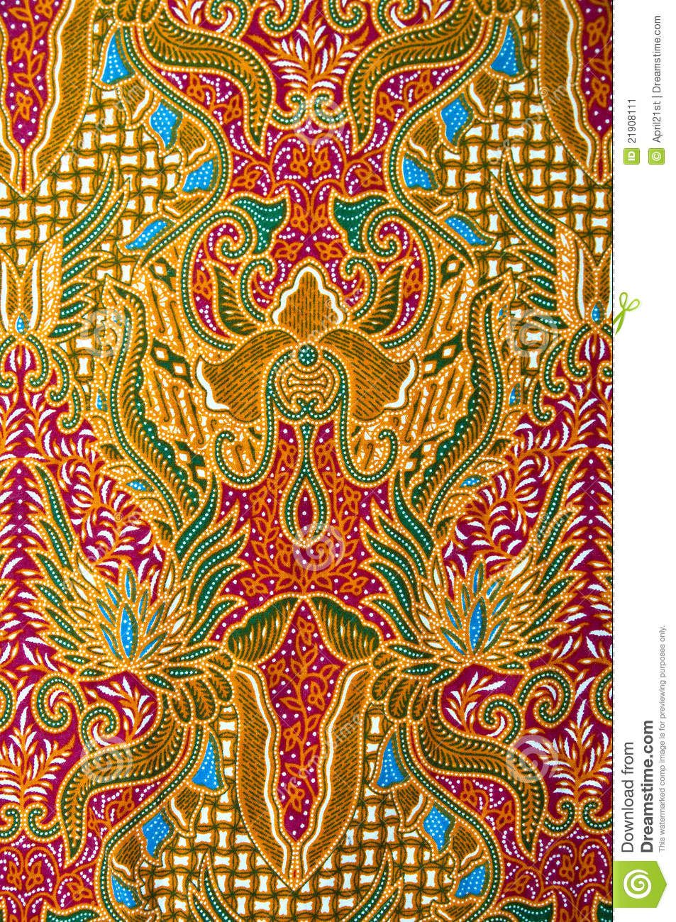 Texture Of General Traditional Thai Fabric Stock Image