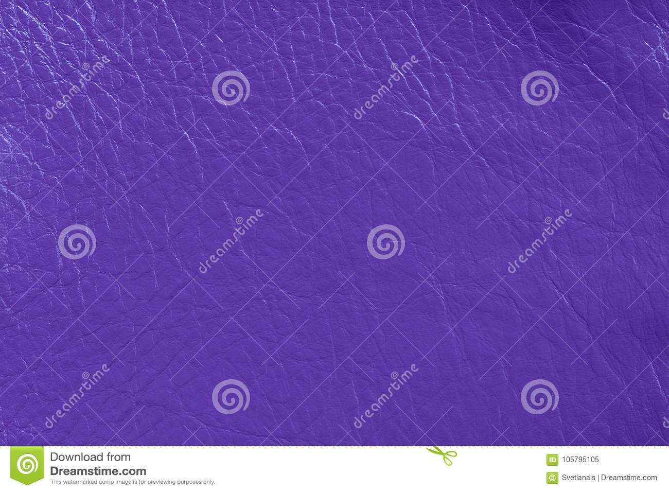 Texture of genuine leather close-up, bright, fashionable ultraviolet color of the 2018 year, purple, violet trendy background. For wallpaper, design, web, ...