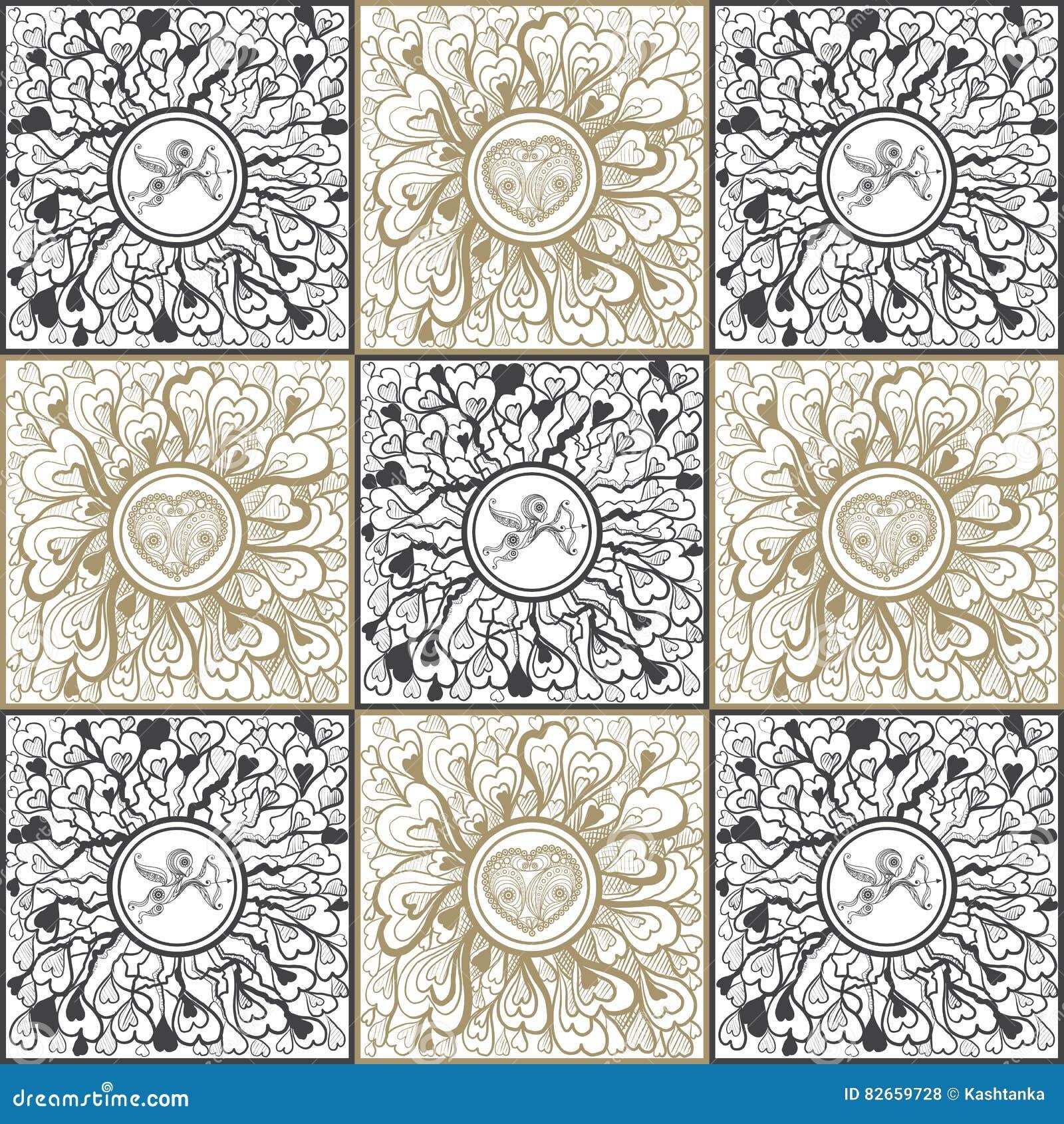 Texture Graphique Avec L'ornement Abstrait 4 Illustration de Vecteur - Illustration du élégant ...