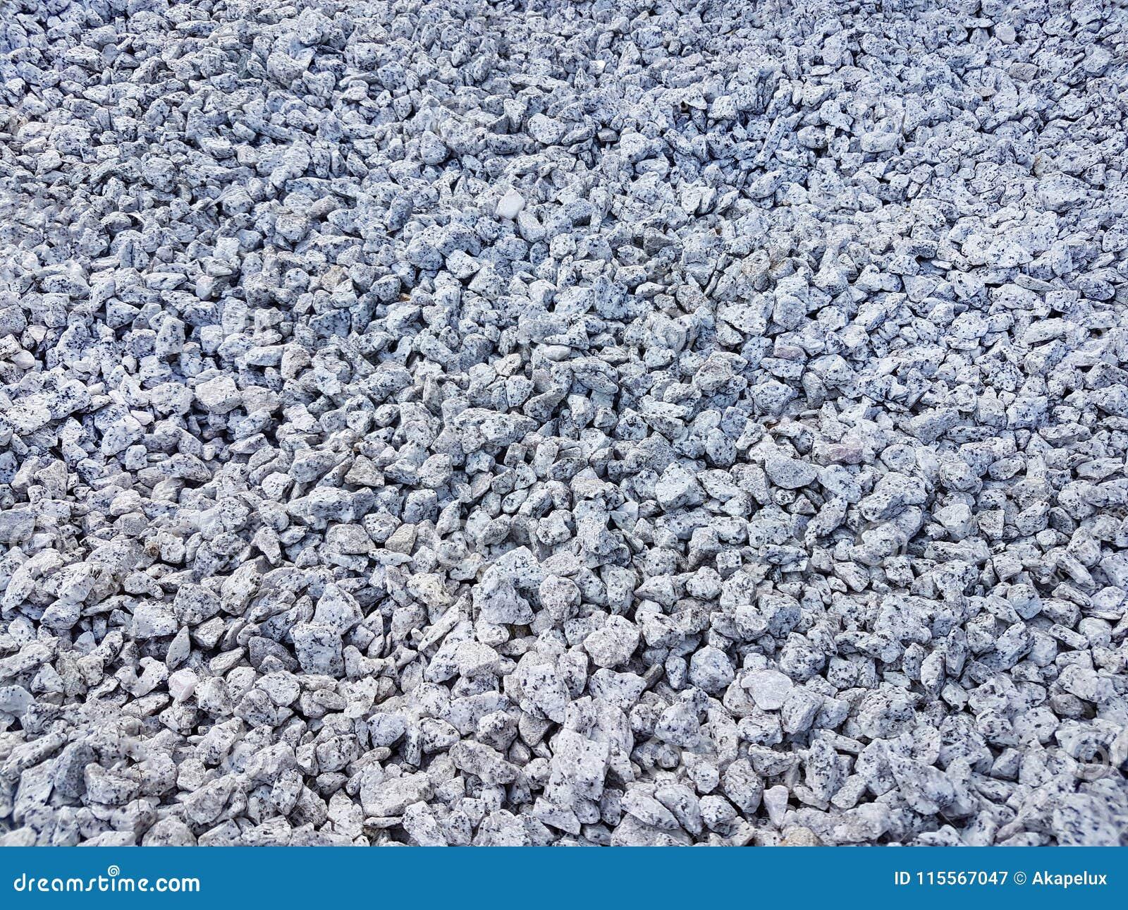 Texture : gravier écrasé par amende Soulagements artistiques des objets naturels Petites pierres blanches de craie