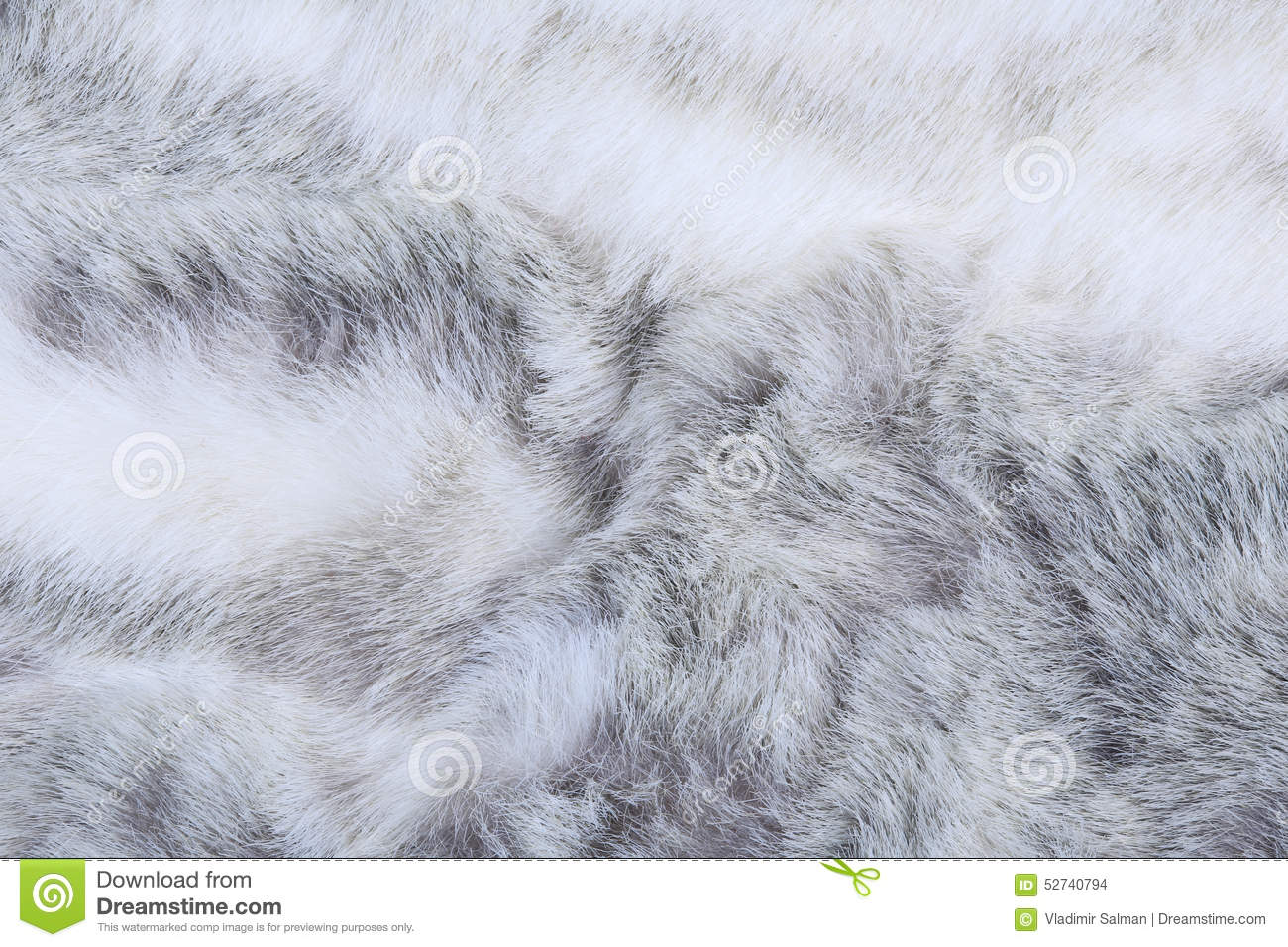 Gray Fur Texture Royalty Free Stock Photography