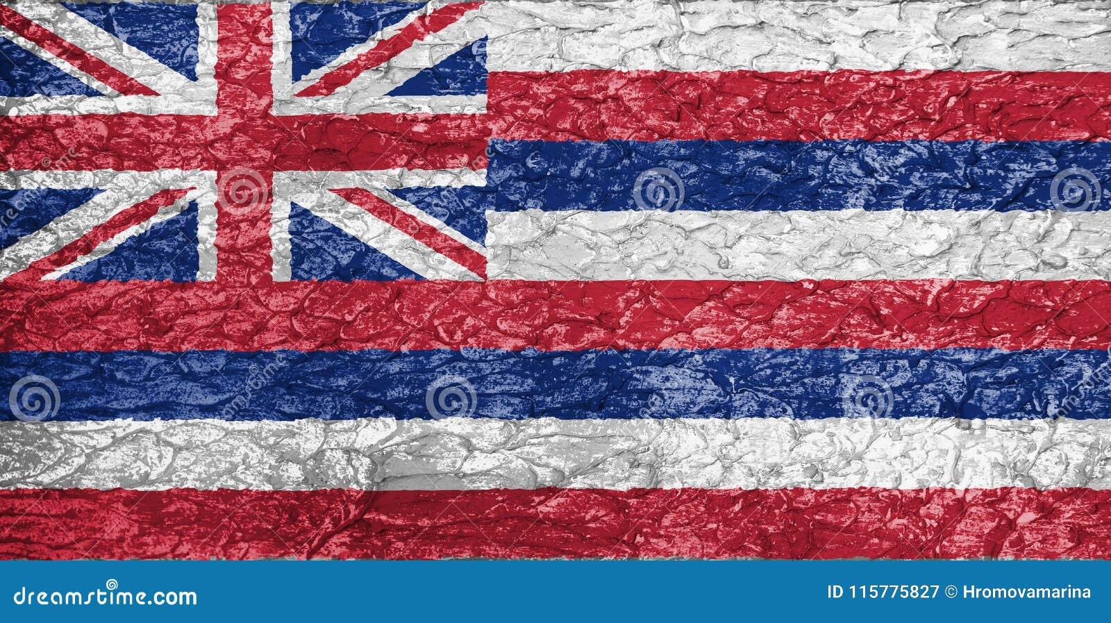 Texture of Hawaii flag