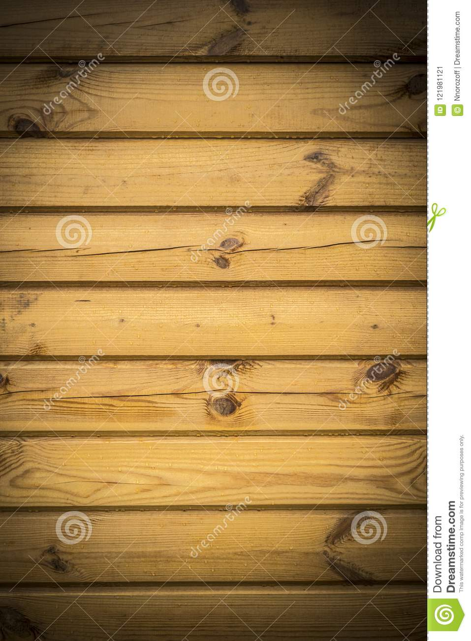 Texture Of Horizontal Wooden Panels, Wall Of Yellow Boards, Abstract ...