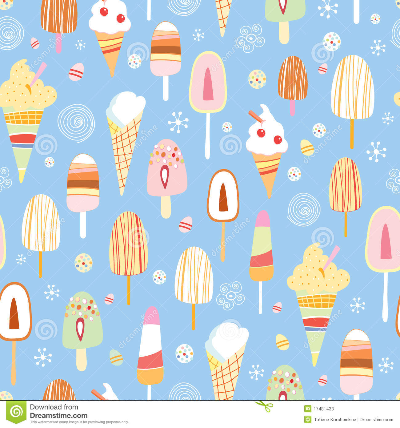 Seamless Ice Cream Wallpaper Royalty Free Stock Images: The Texture Of Ice Cream Stock Photos