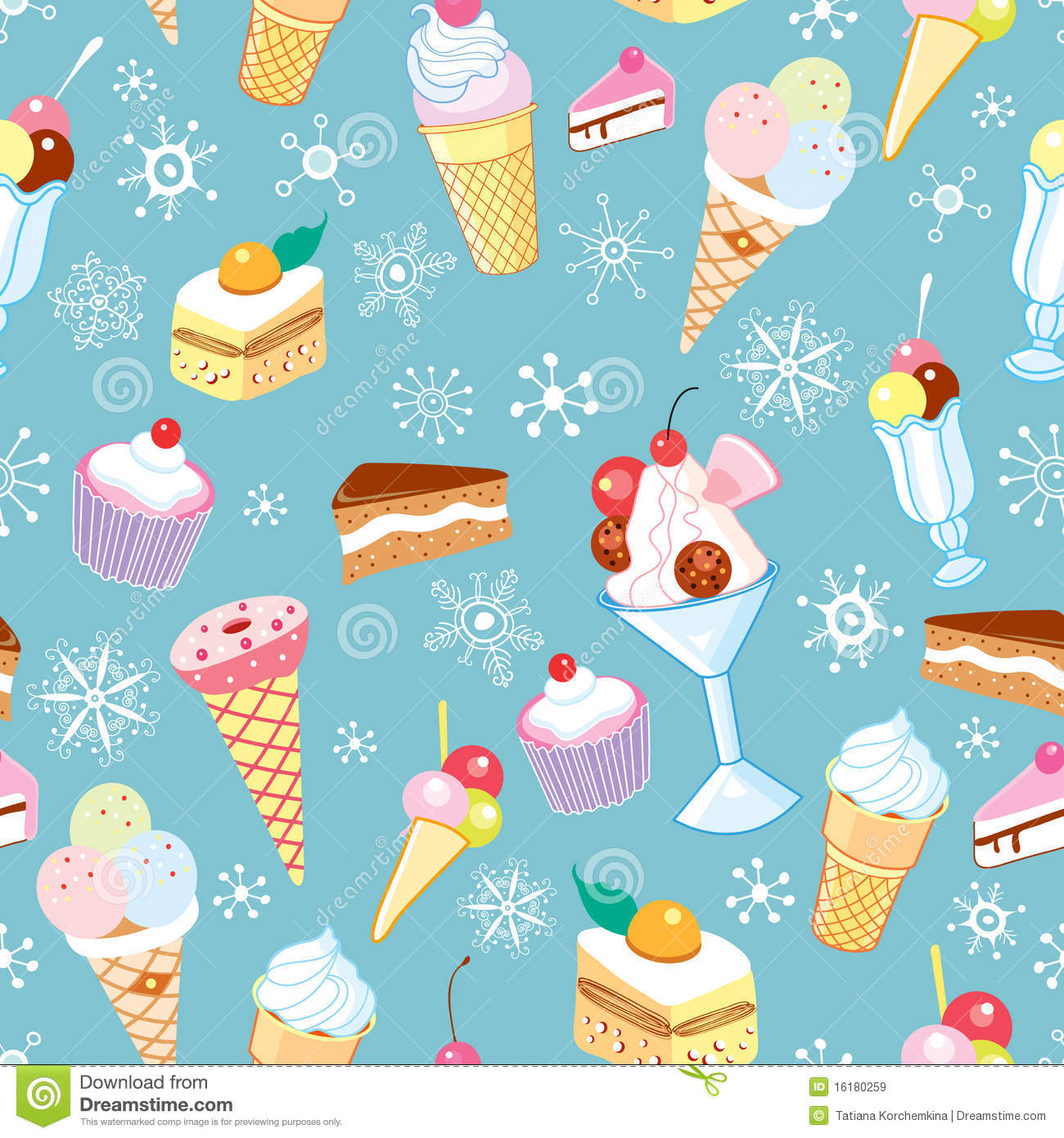 Seamless Ice Cream Wallpaper Royalty Free Stock Images