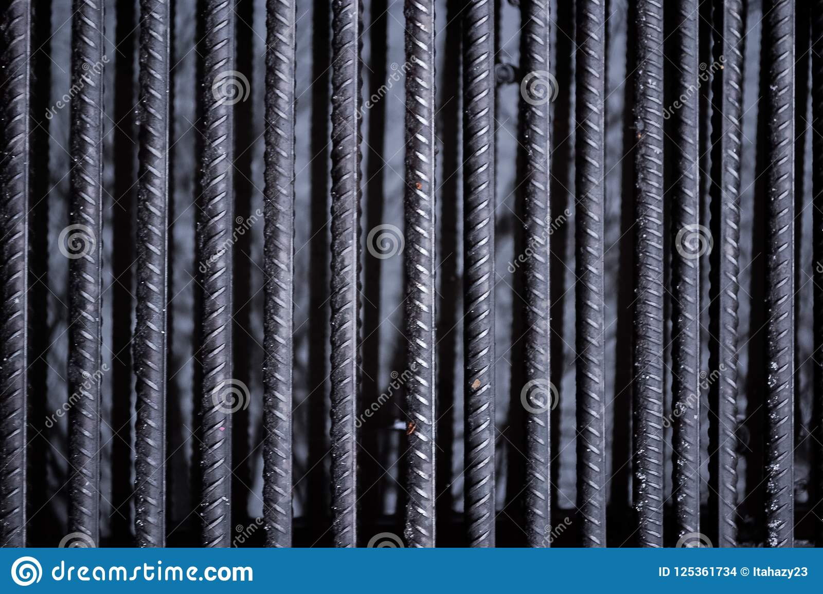 The texture of the iron bars