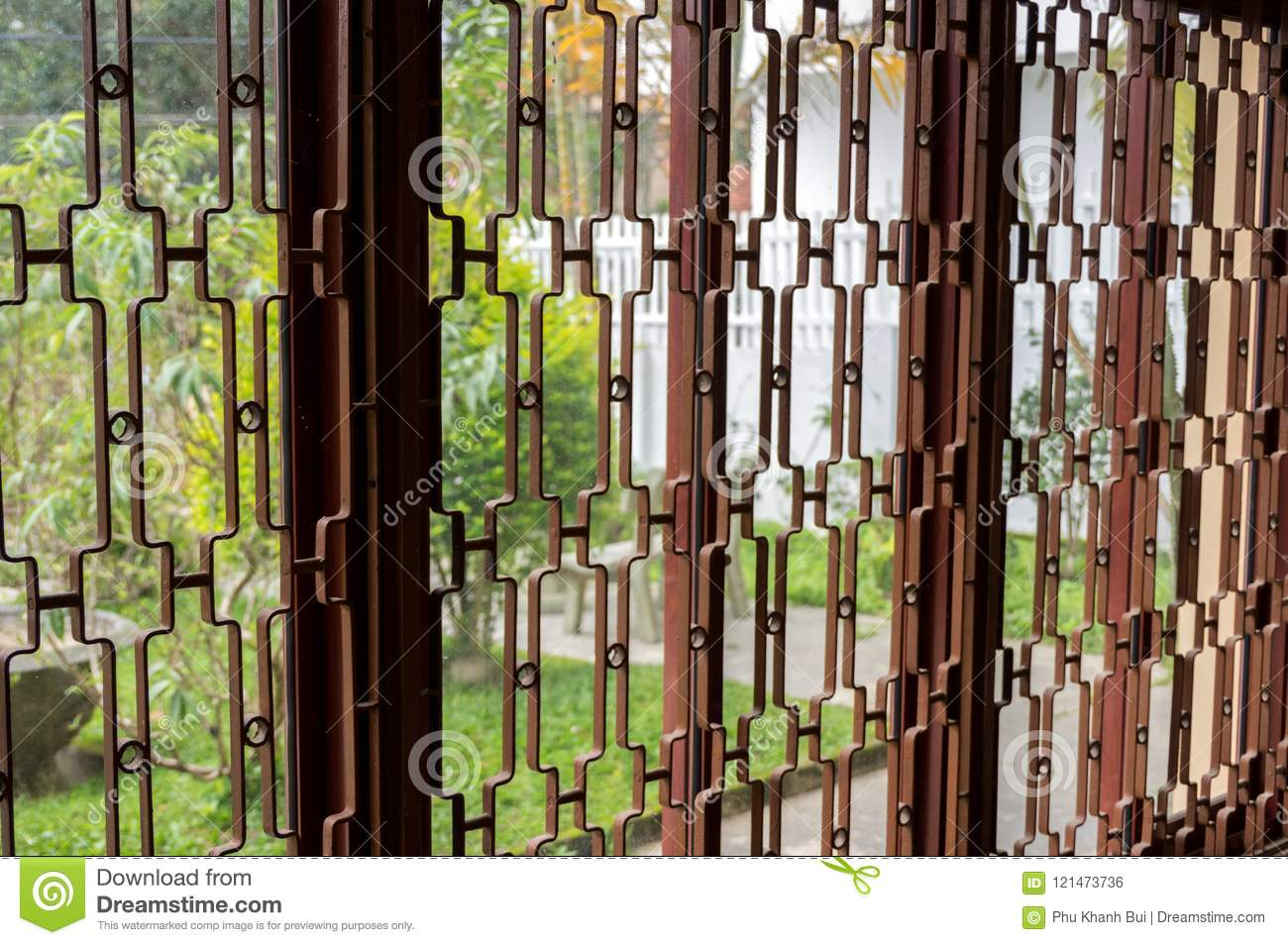 The Texture Of Iron Used To Make Door Frames Stock Photo - Image of ...