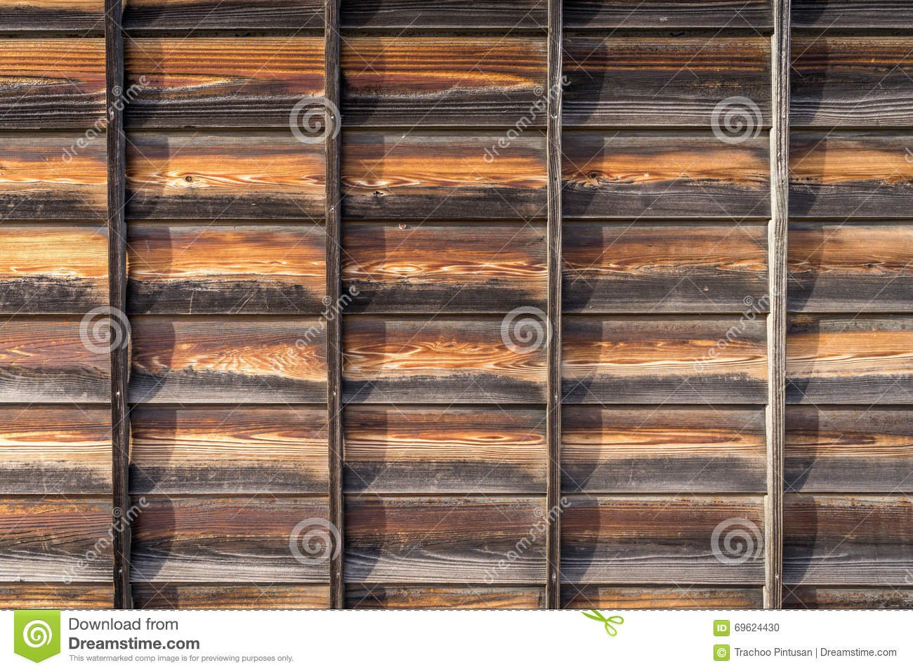 Texture Of The Japanese Wooden Walls Stock Photo Image