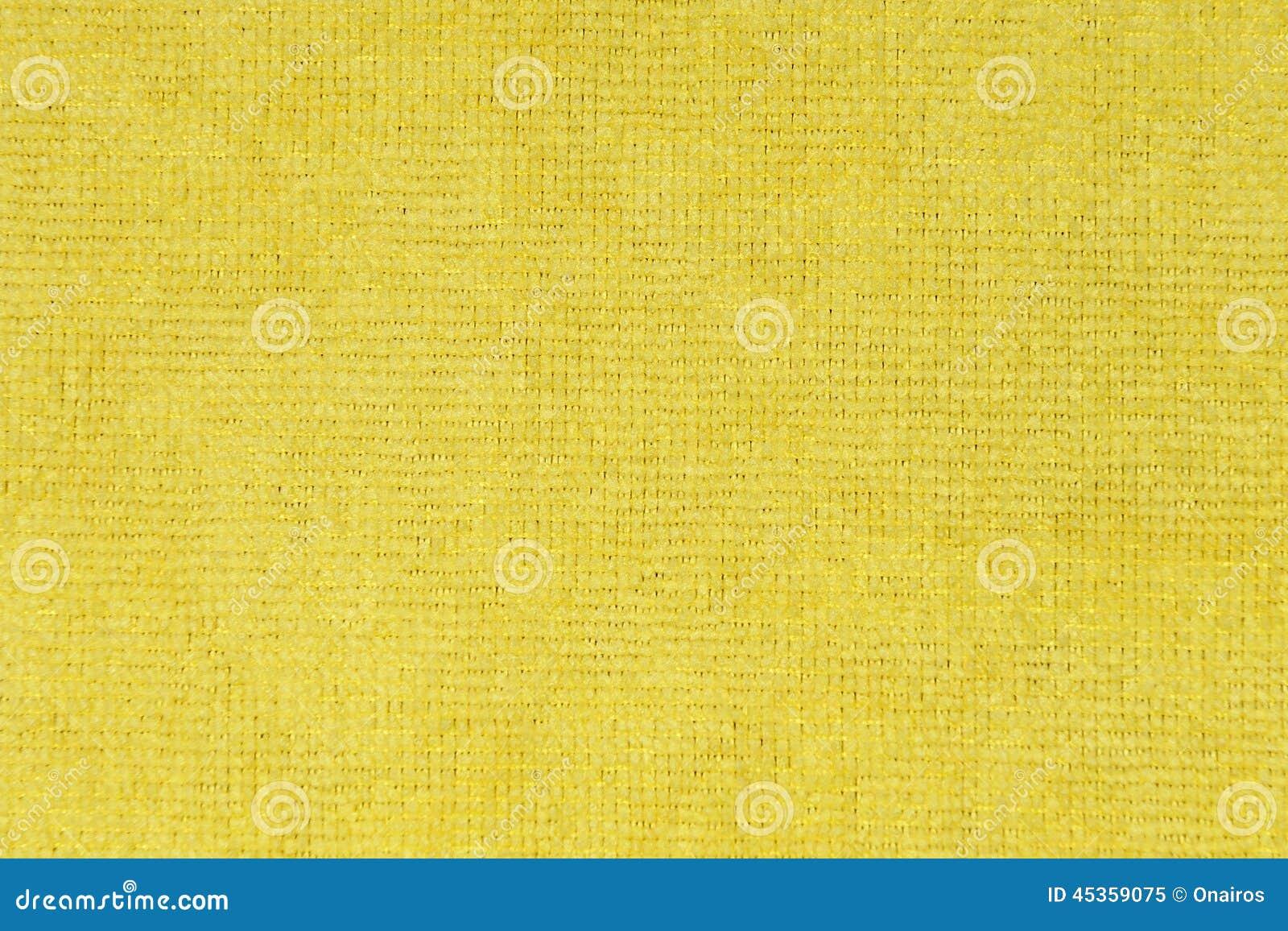 Texture jaune de tissu