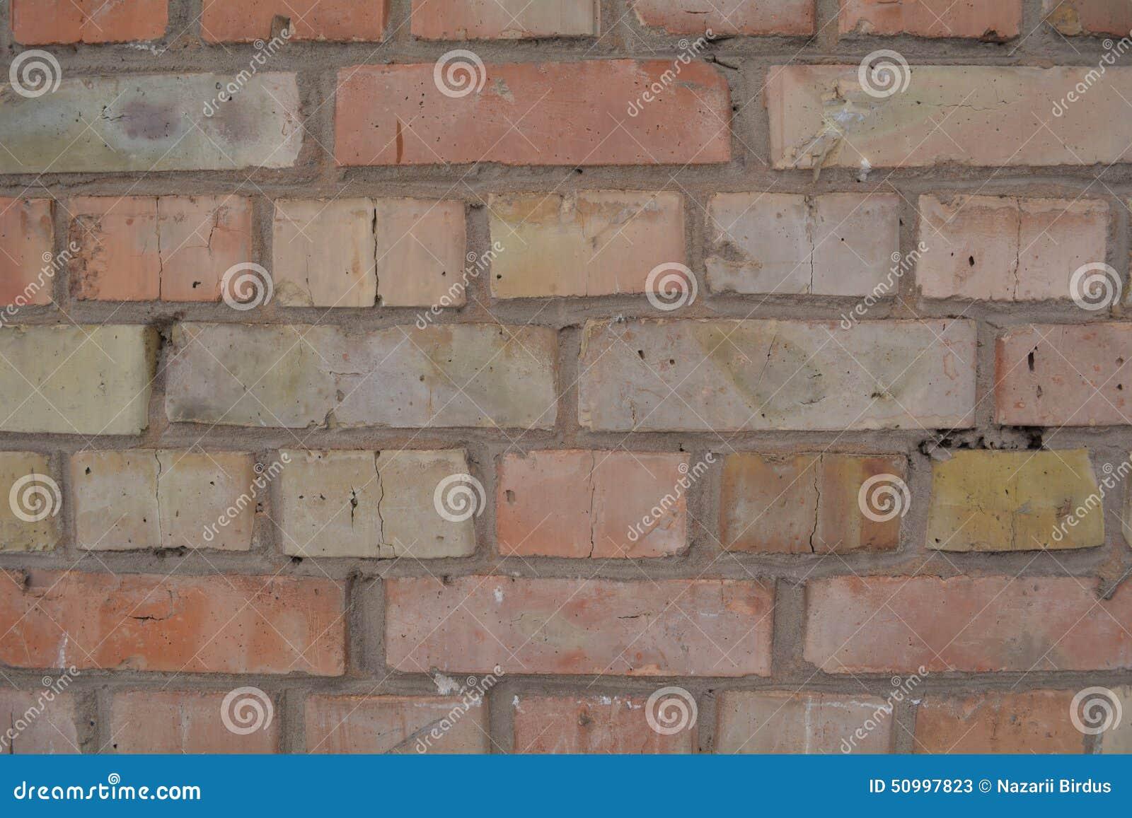 Texture Jaune Rouge De Fond De Mur De Briques Image stock - Image du conception, vide: 50997823