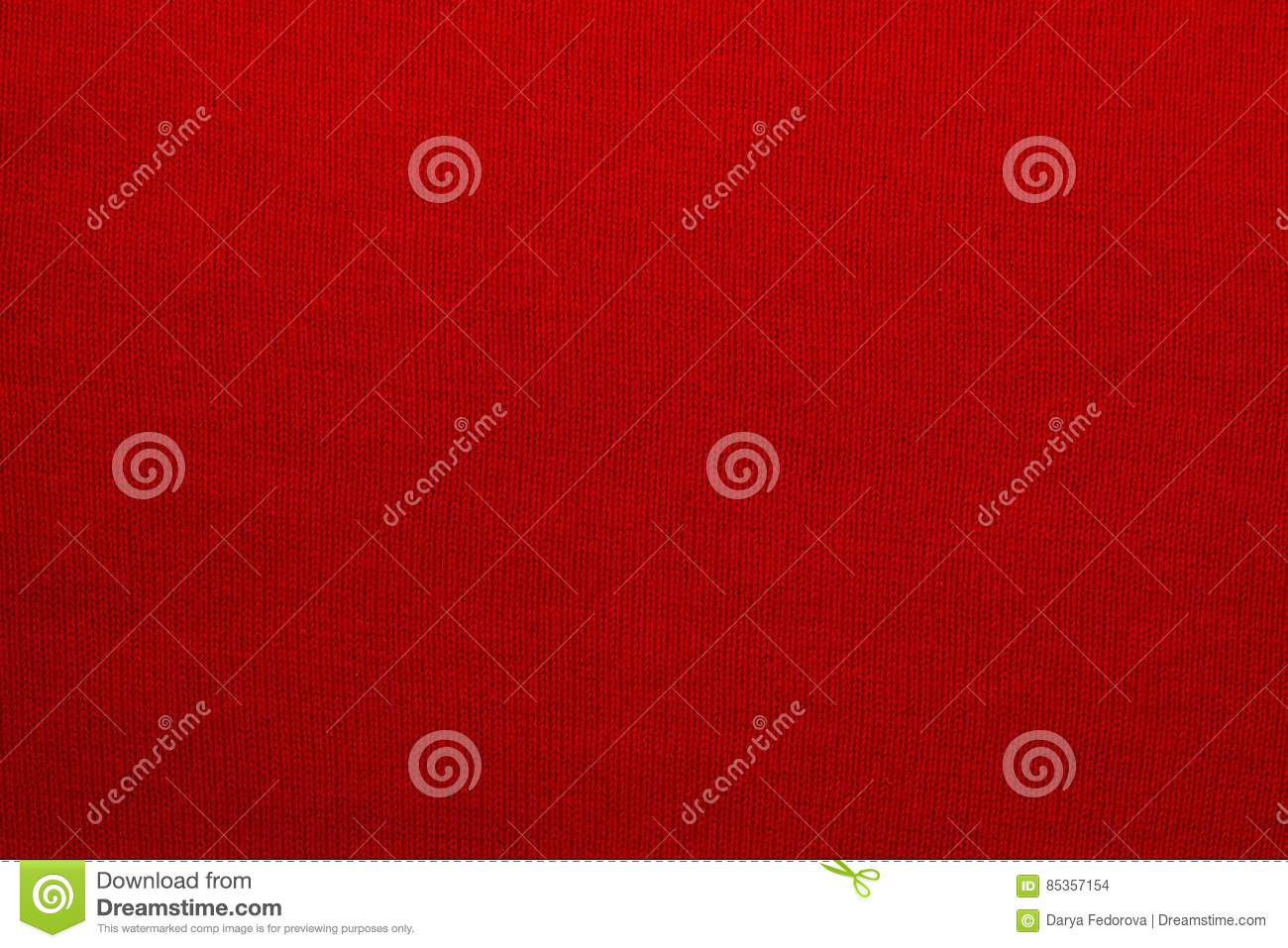 The texture of a knitted woolen fabric red