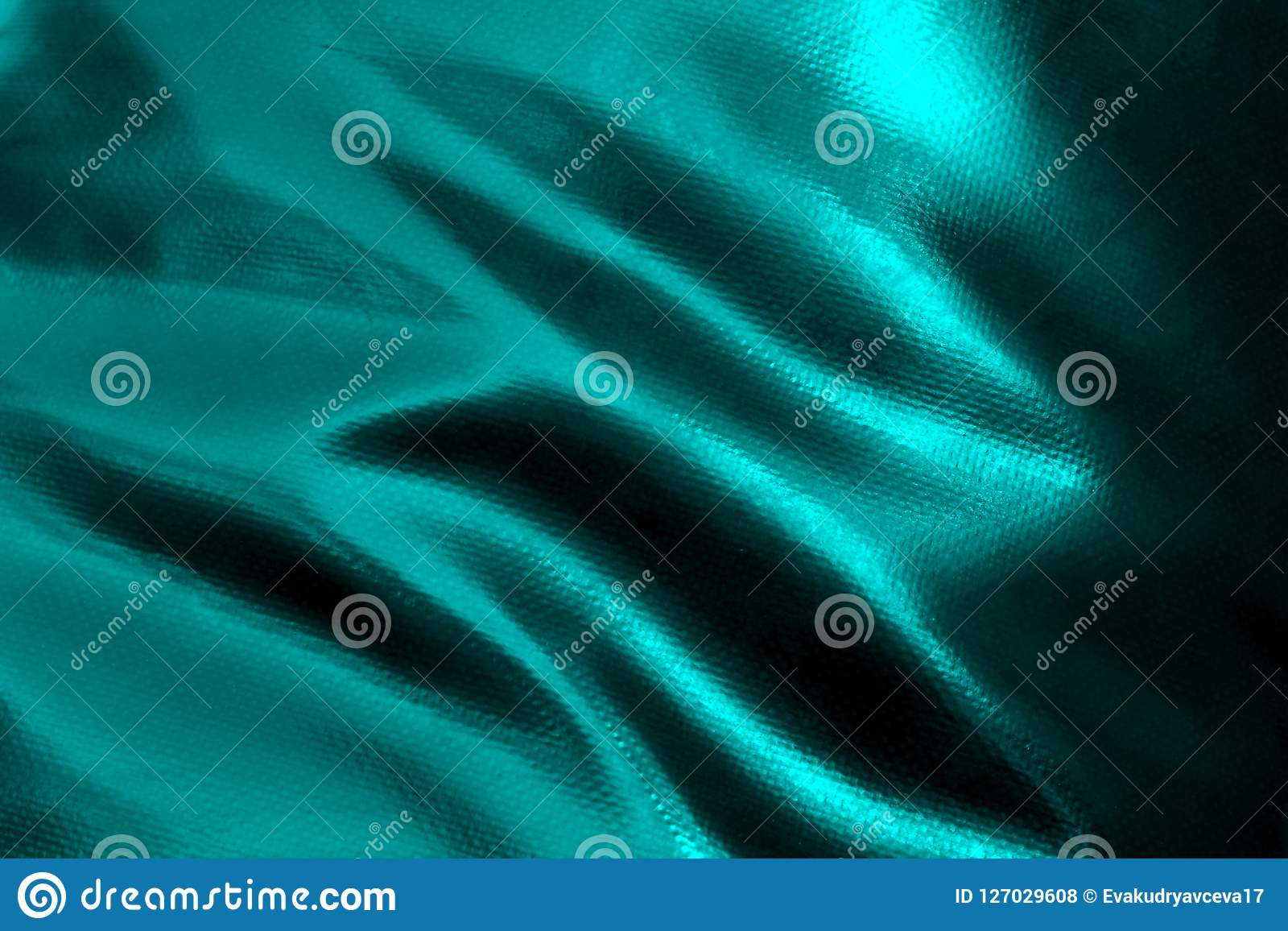 Texture Light Waves From Fabric Rough Leather Turquoise