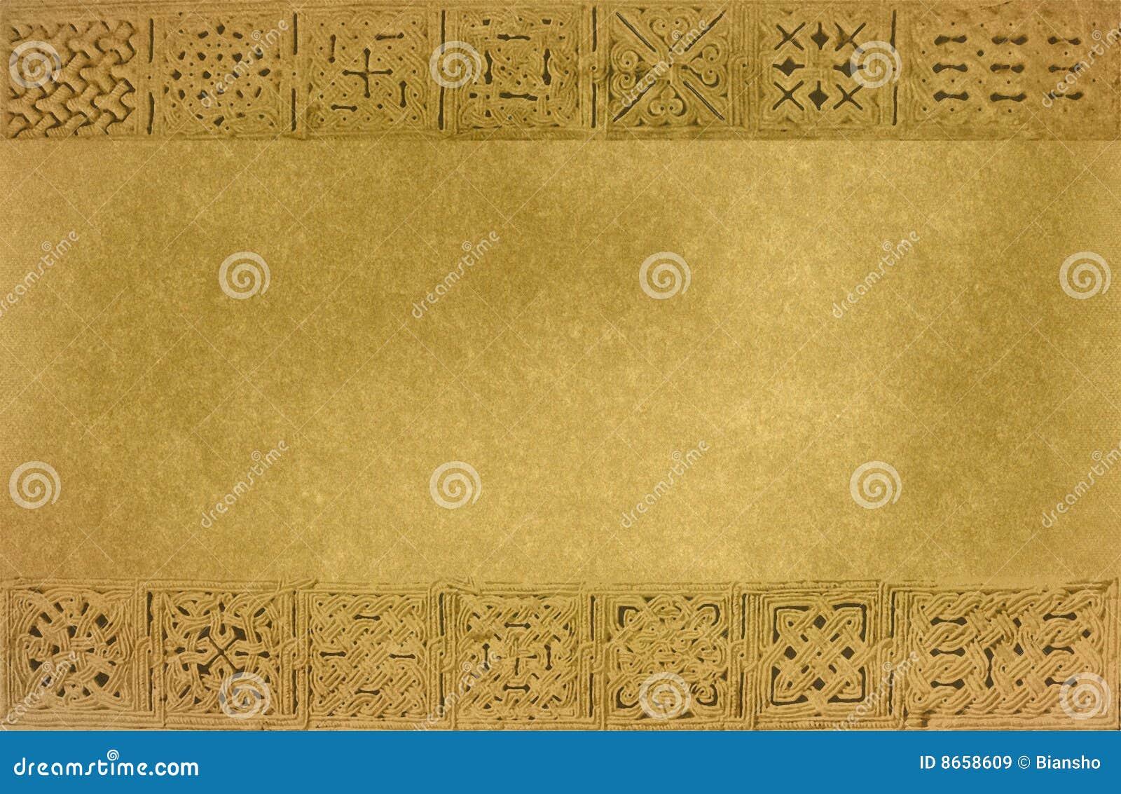 Texture médiévale encadrée d ornements