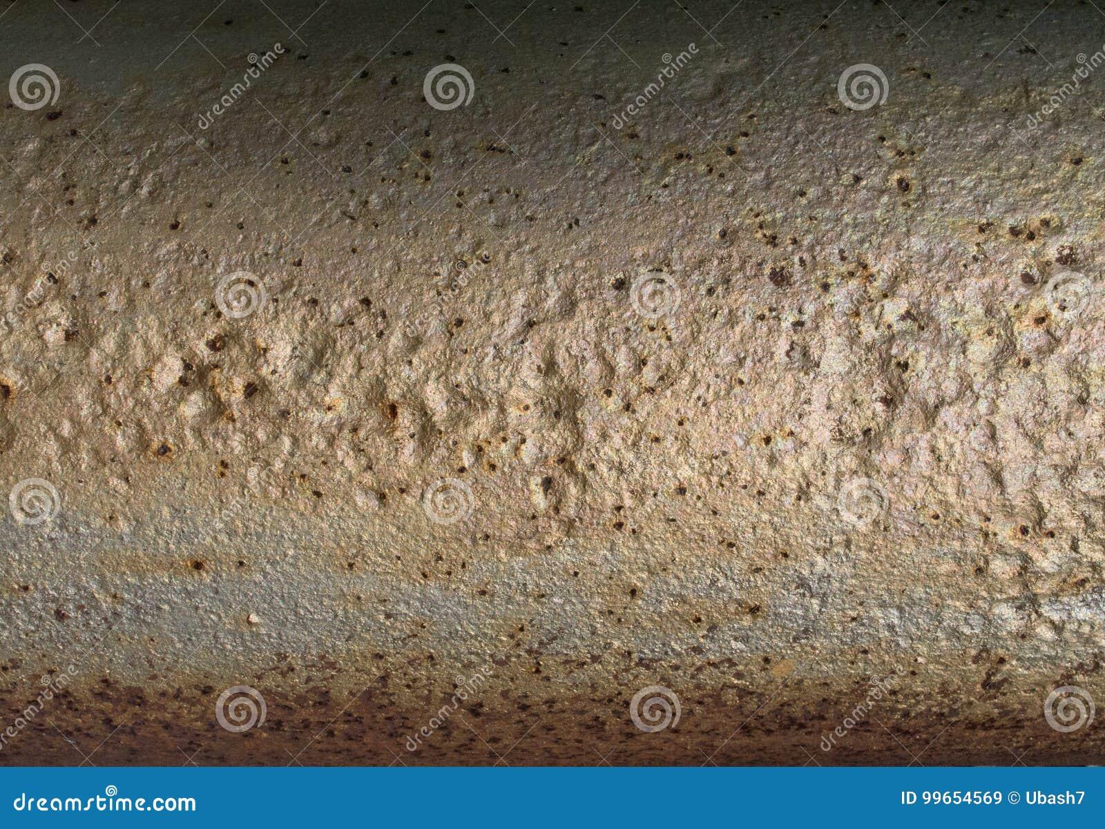 Texture métallique de rouille de tube, fond grunge abstrait, surface de planète
