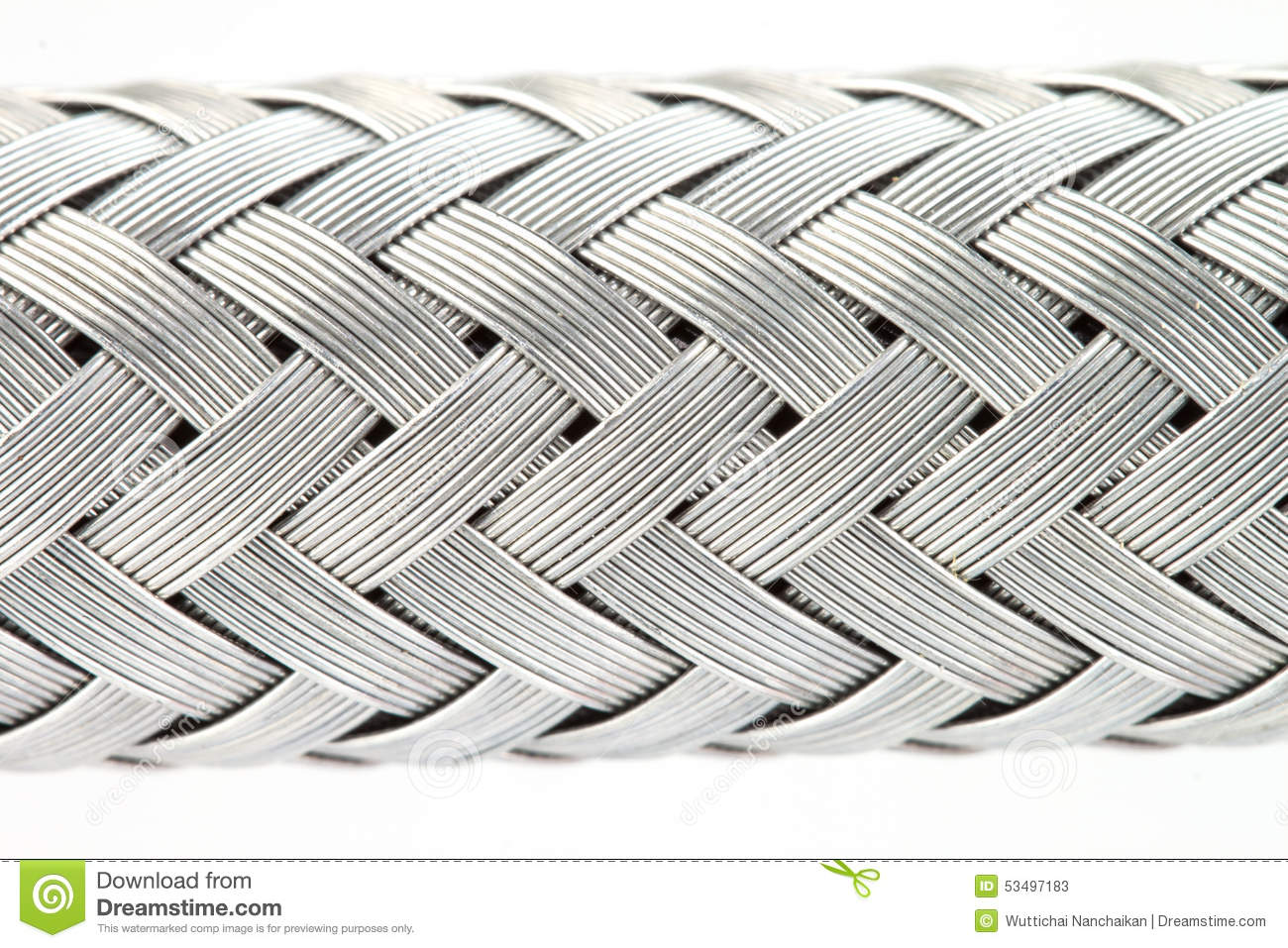 Texture Of A Metal Wire Braided Reinforced Hose Stock Image ...