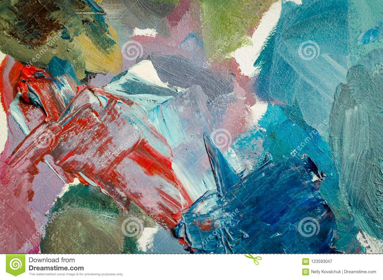 texture mixed oil paints in different colors stock image image of rh dreamstime com