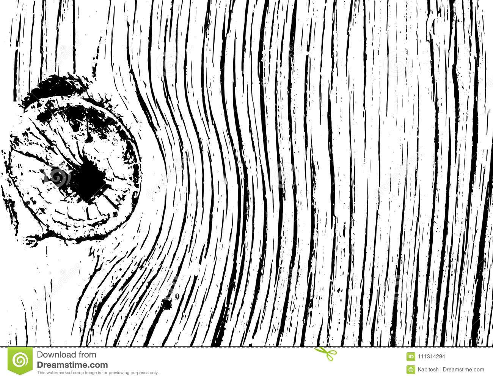 Texture Monochrome En Bois Réaliste Illustration De Vecteur
