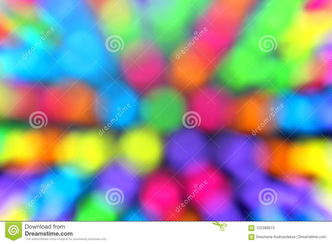 Texture Multicolored Circles Blurred Background Bright