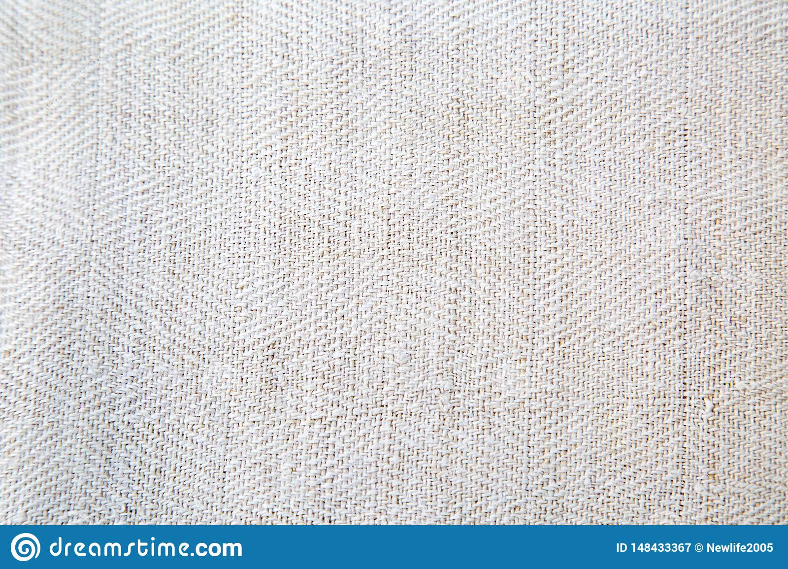 Texture of natural linen fabric with pattern.