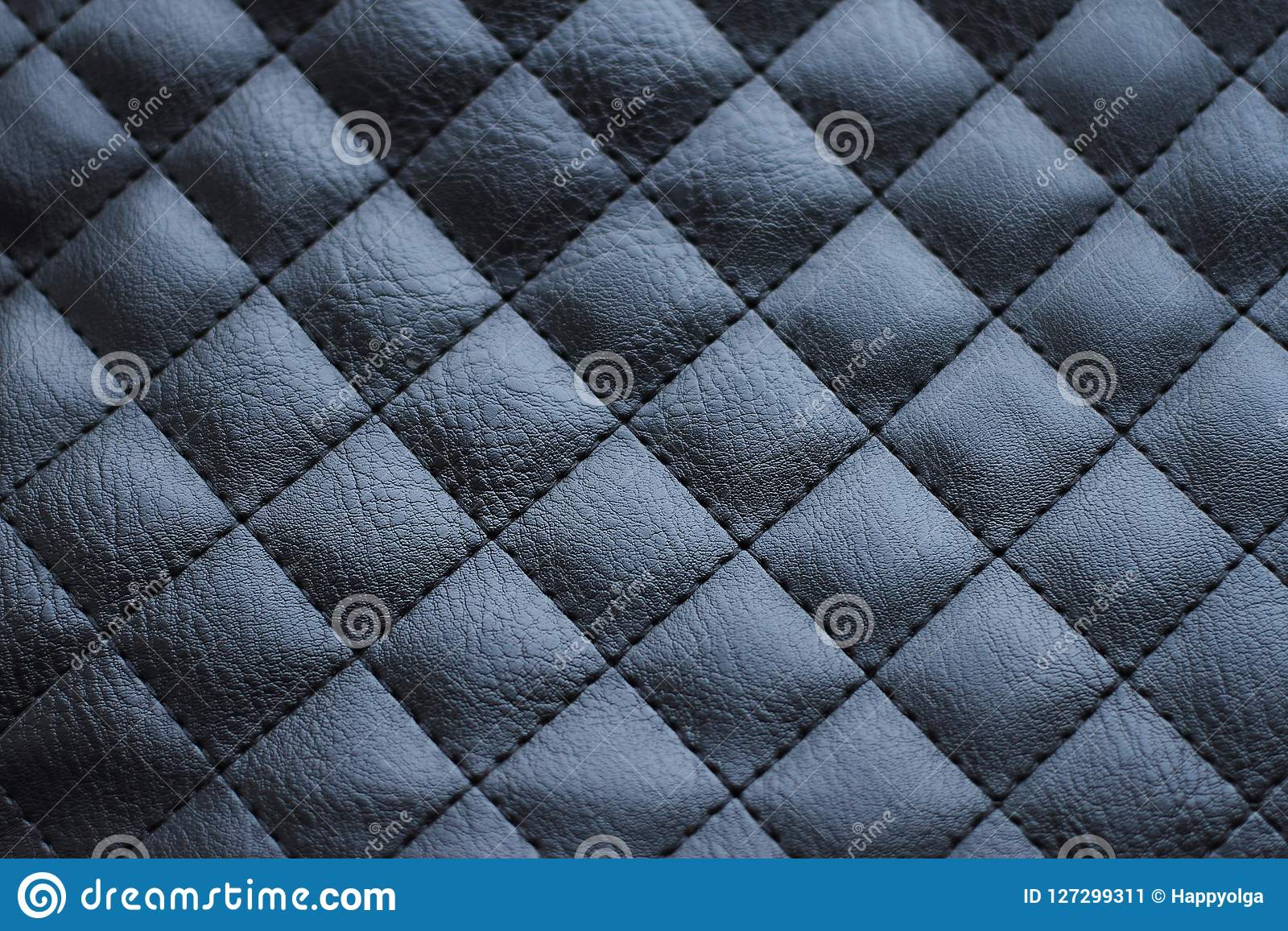 Black Leather Upholstery Stock Image Image Of Quilted 127299311