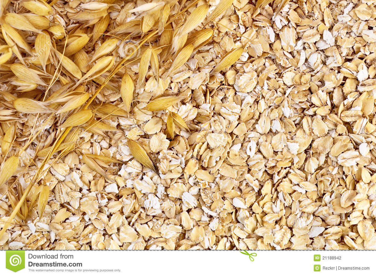 The texture of oatmeal with oat stalks left