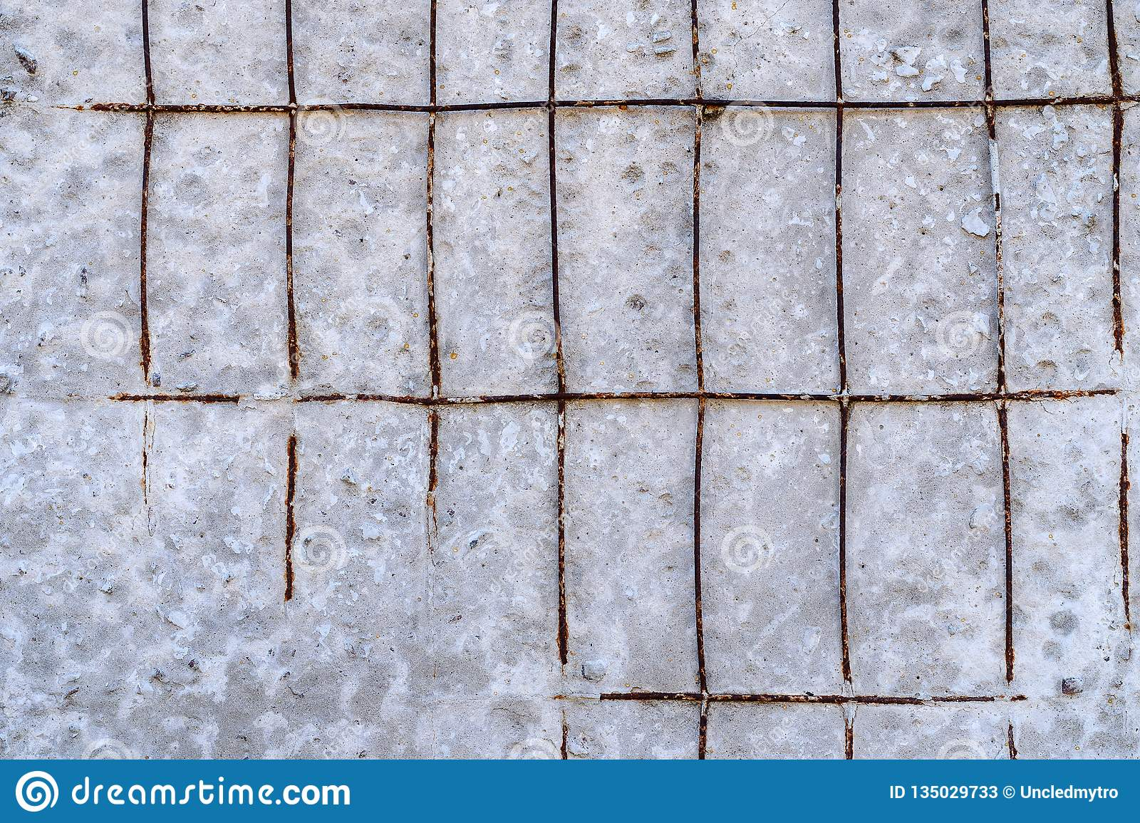 Texture Of Old Cement Or Concrete Wall With Reinforcement Mesh Can Be Used As Background Stock Image Image Of Pattern Gray 135029733