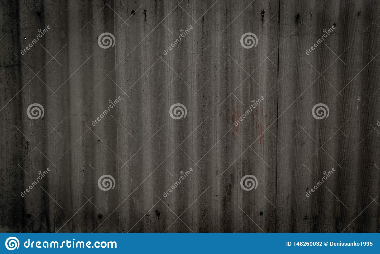 Texture of old gray concrete wall with quilting handprints and bolts. With space for text. Wallpaper for design