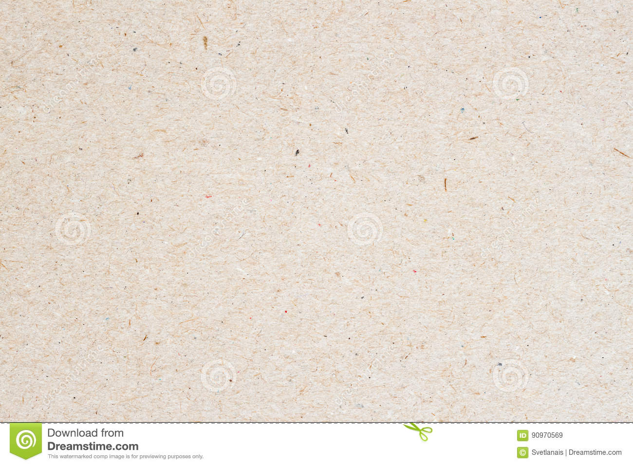 Texture of old organic light cream paper, background for design with copy space text or image. Recyclable material, has