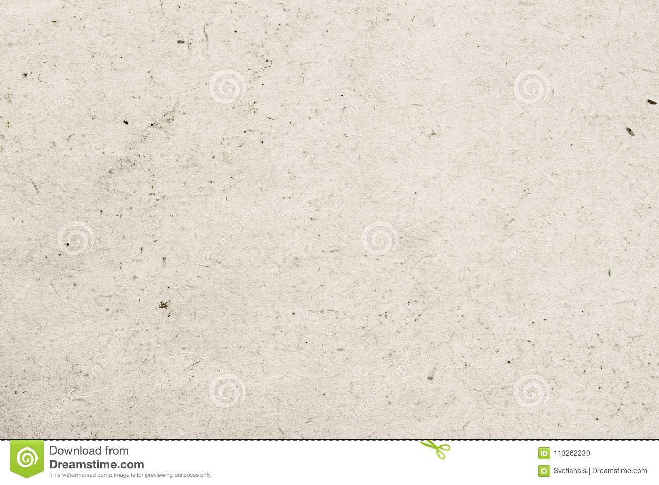Texture of old organic light cream paper with wrinkles, background for design with copy space text, image. Recyclable
