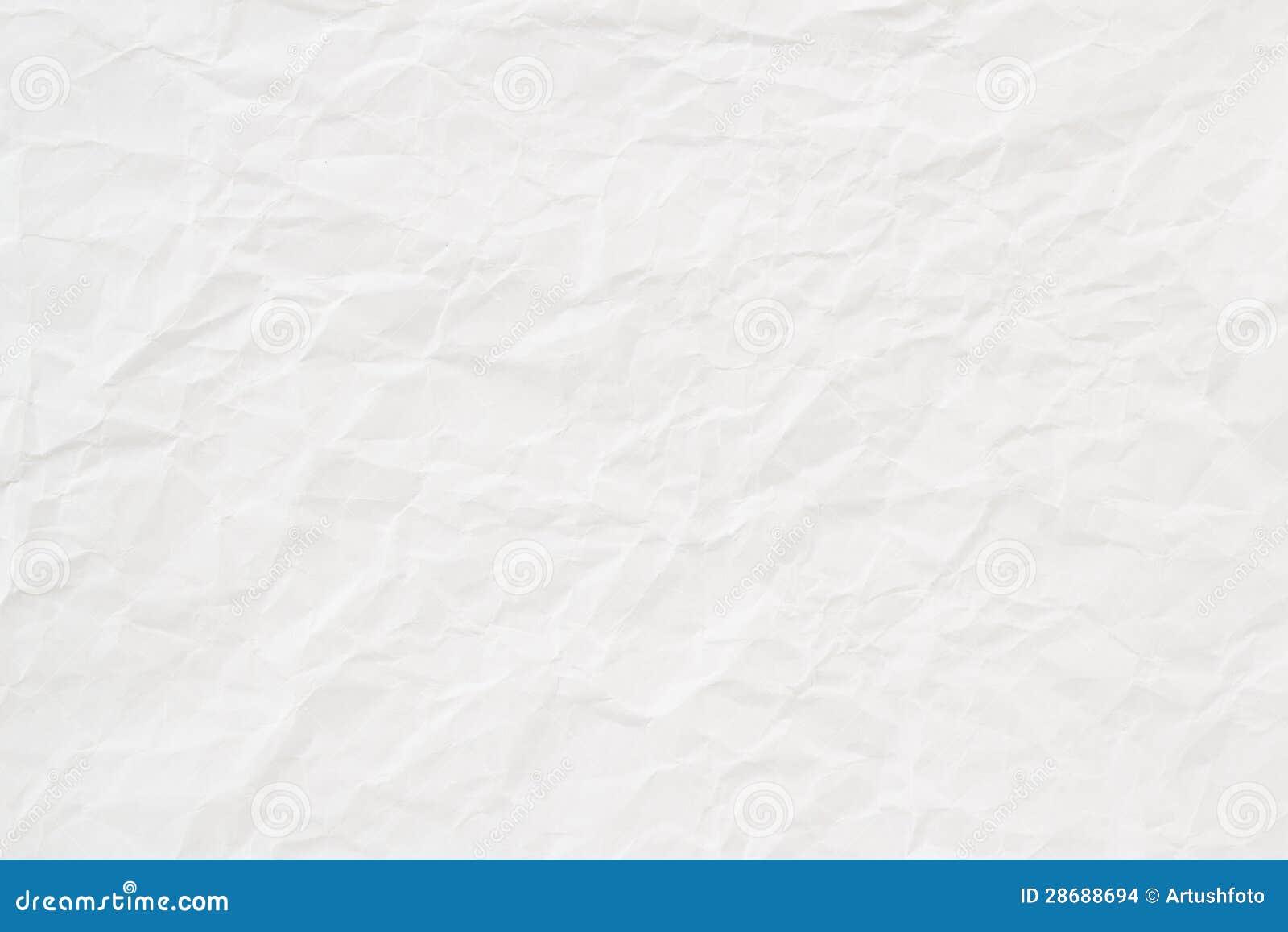 Texture ou fond de papier chiffonnée par blanc
