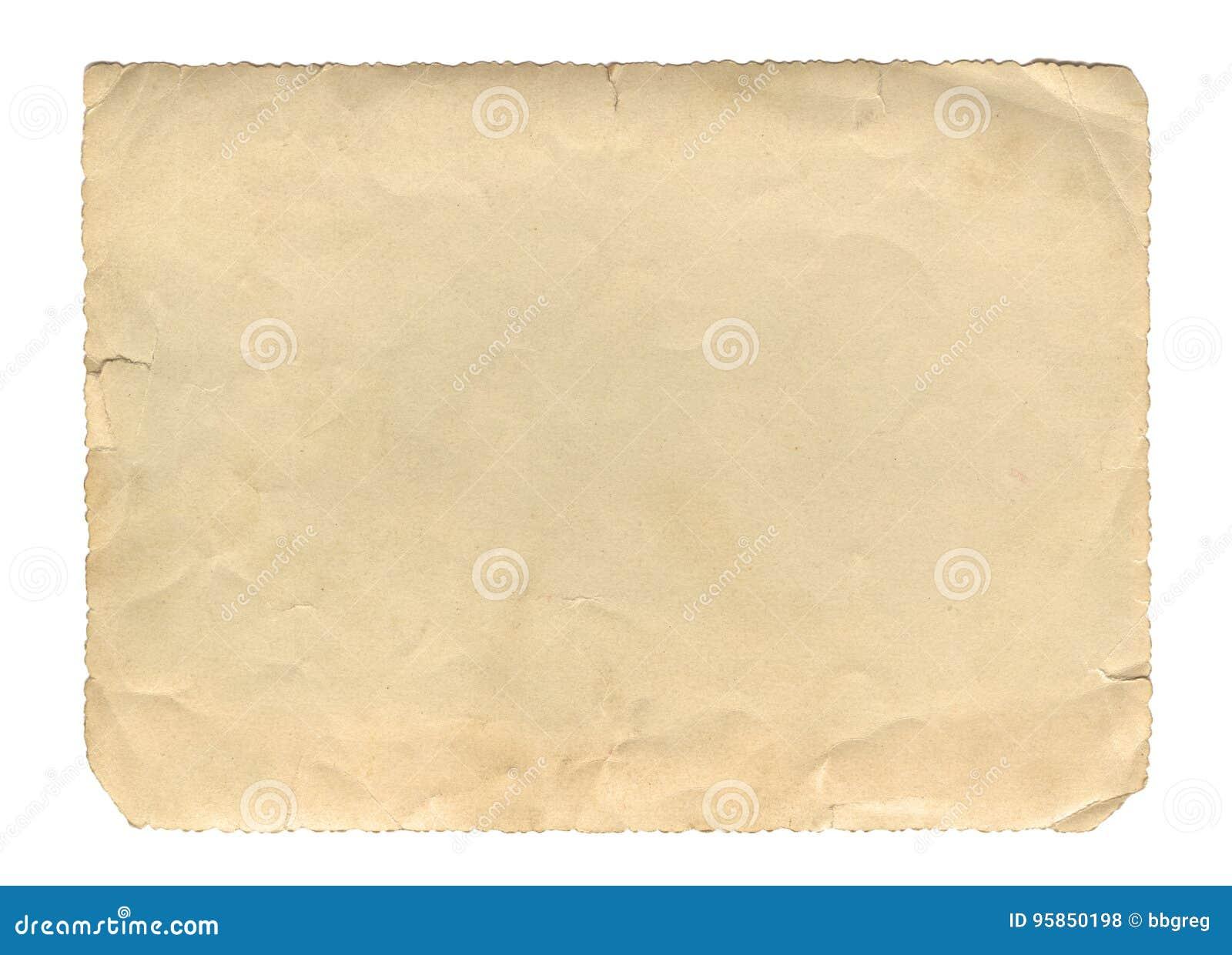 Texture ou fond de papier de brun de style de vintage vieille, avec les bords déchirés inégaux