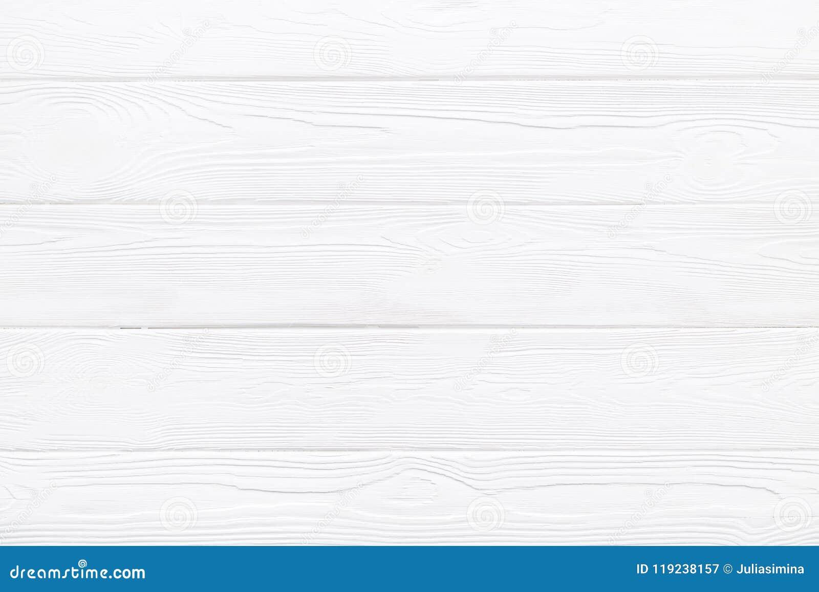 Texture ou fond en bois de table de planche de pin blanc