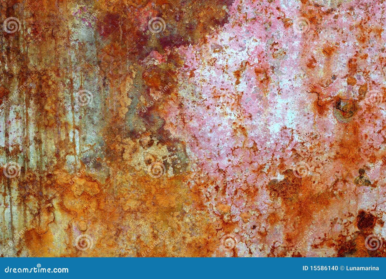 Texture oxyd e par peinture en acier g e de fer photo for Peinture sur fer