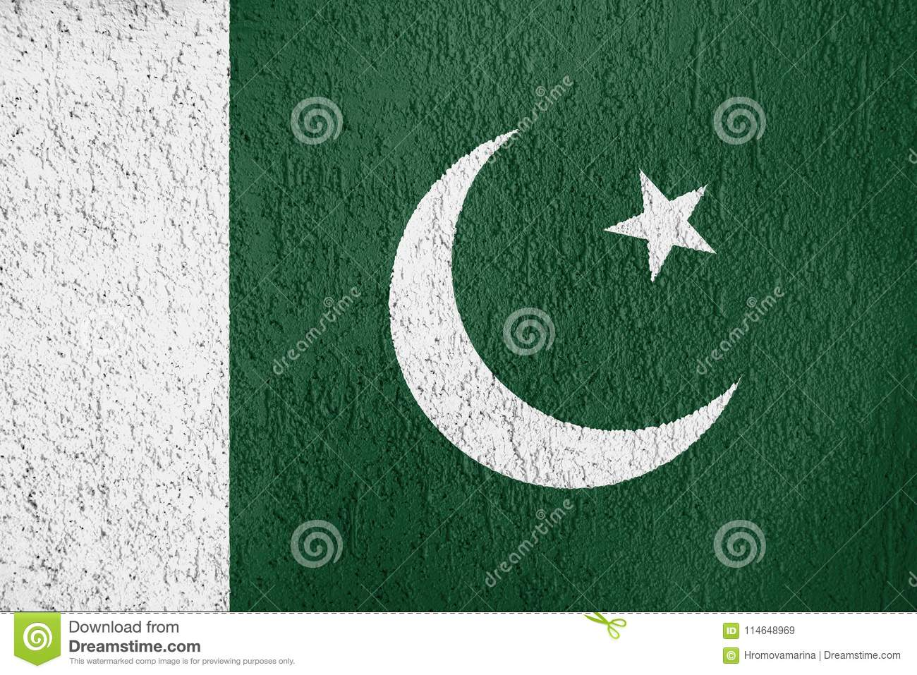 Texture of Pakistan flag.