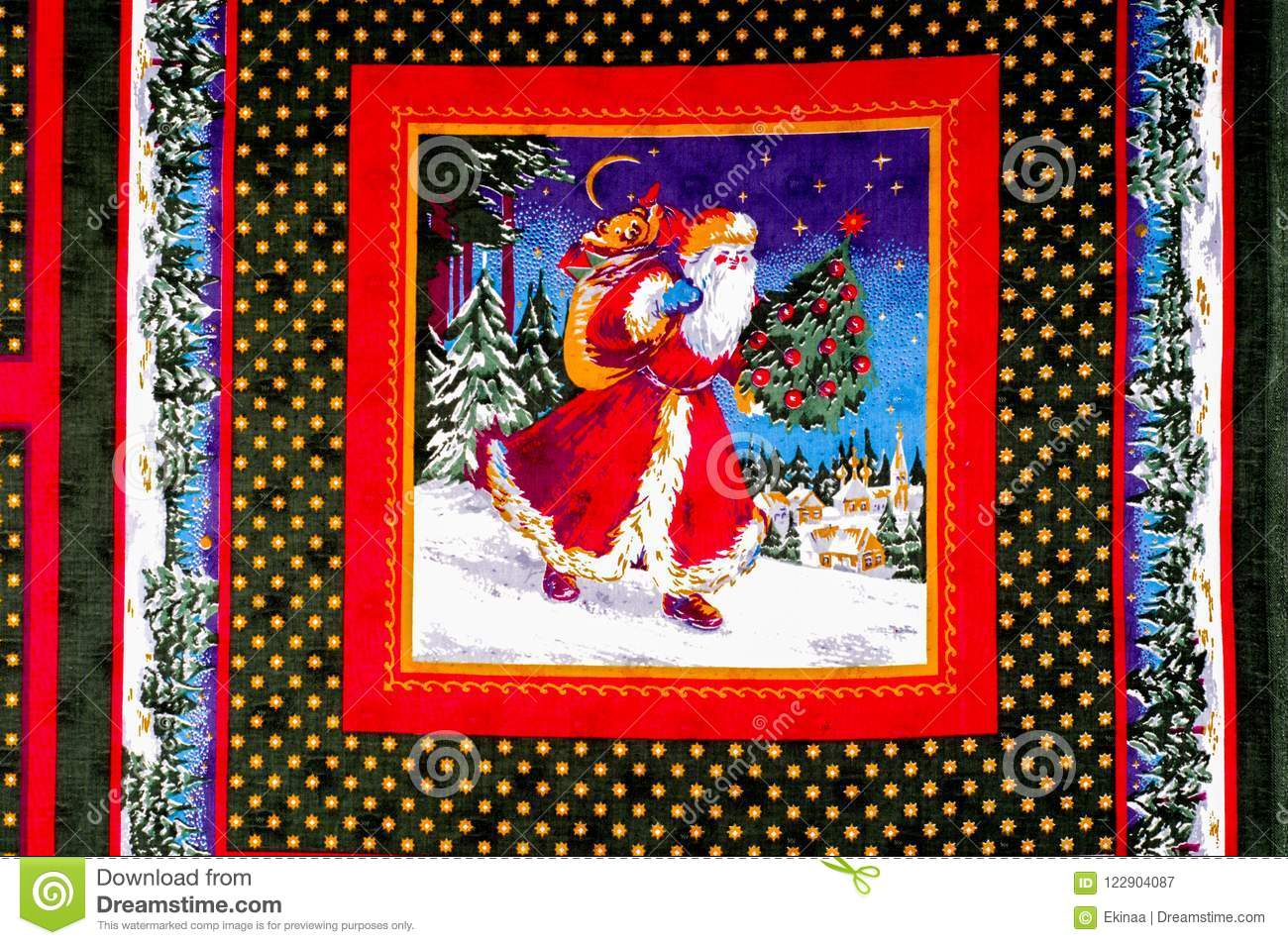 Texture Pattern Fabric Christmas Cards Prepare For One Of The Stock Image Image Of Horizontal Card 122904087