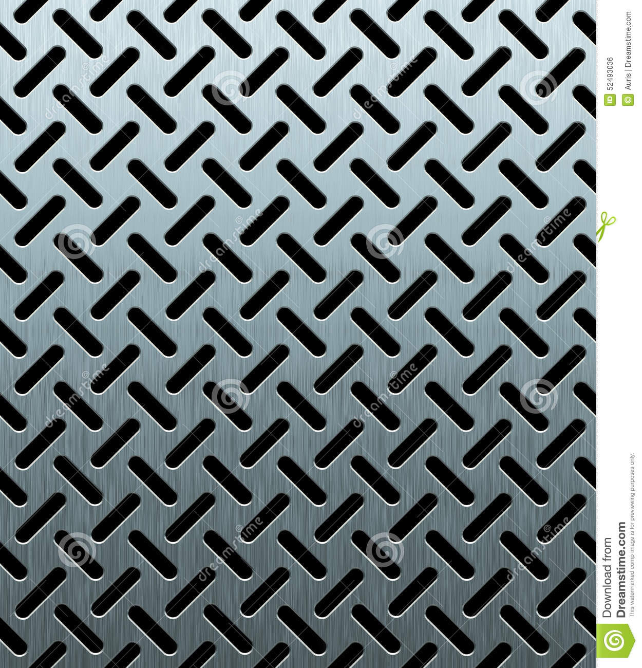 Texture Of Perforated Metal Sheet Stock Illustration