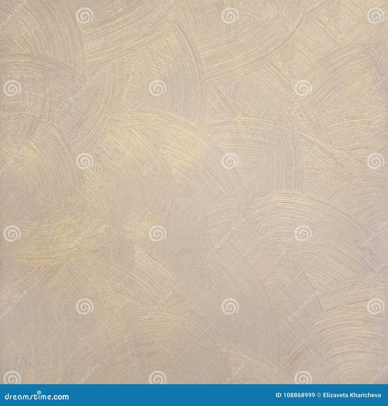 Texture Perlee De La Peinture Avec Des Divorces Ronds Couleur Beige Avec De L Or Image Stock Image Du Peinture Perlee 108868999