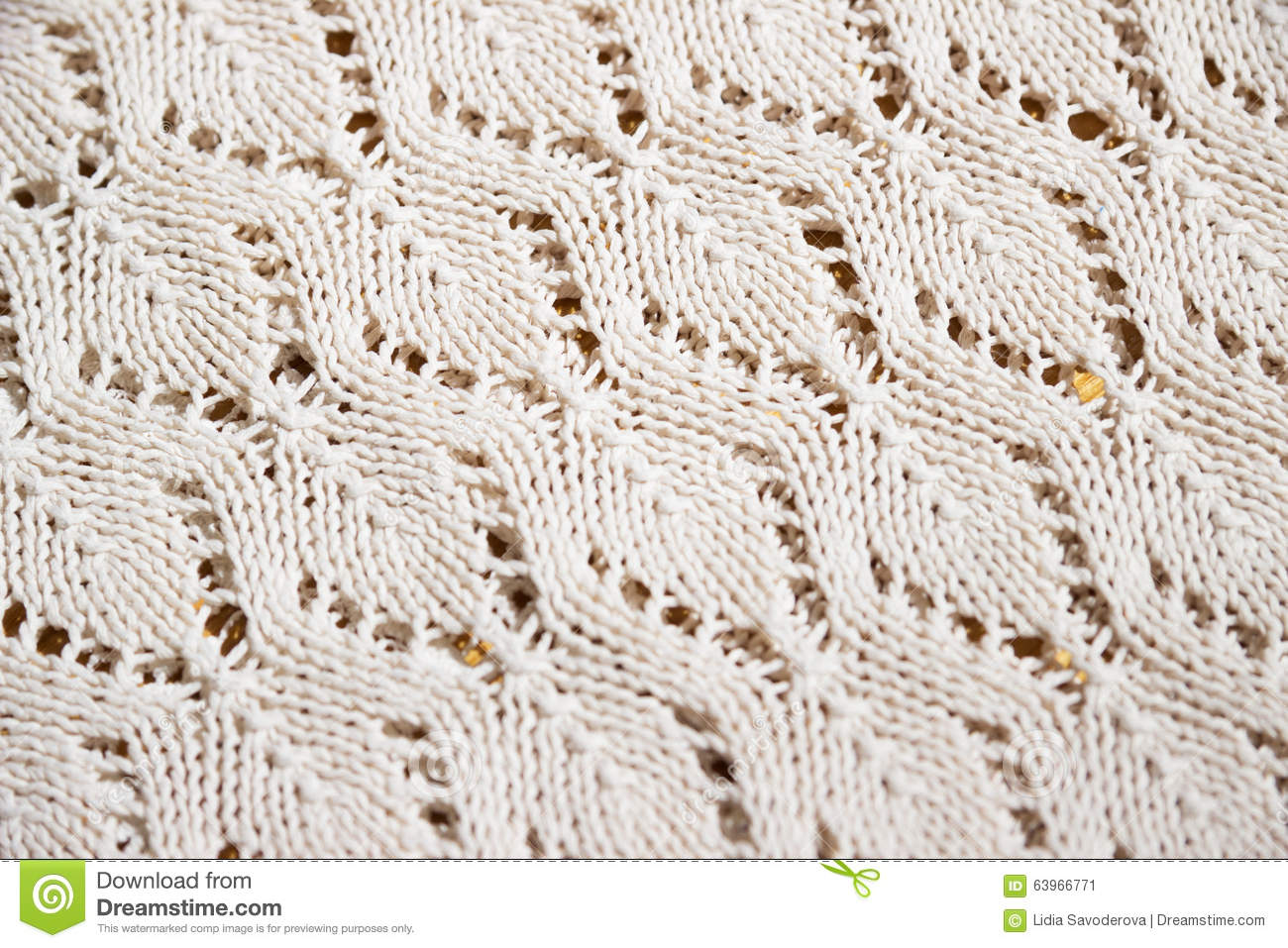Texture of a piece of knit fabric