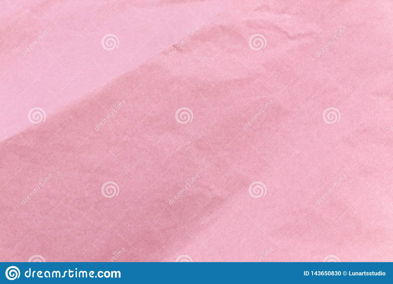 Texture of pink craft crumpled paper background